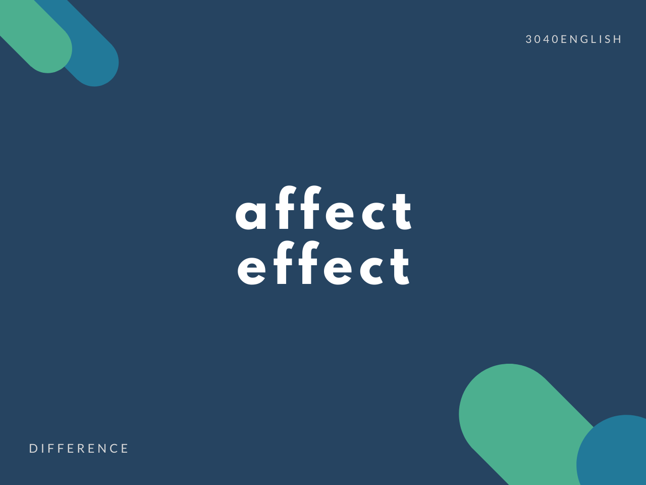 affect と effect の違いと簡単な使い方【解説・例文あり】