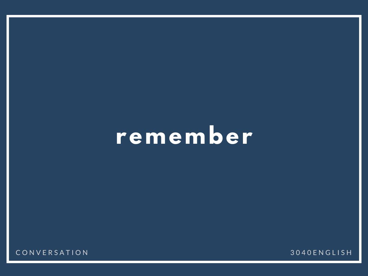 「覚える・覚えておく」の英語表現7選【単語・英会話用例文あり】