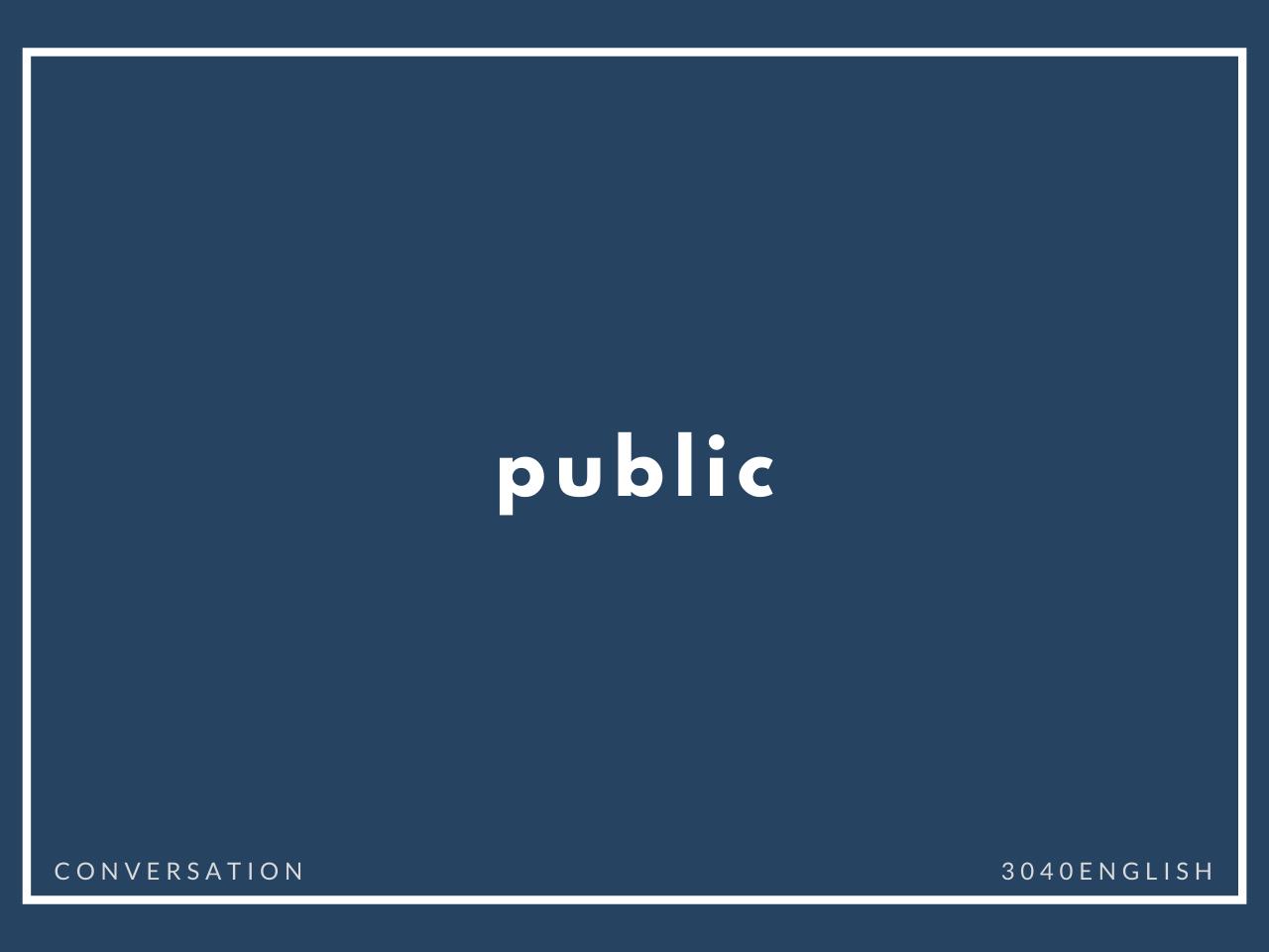 「公共の場所」の英会話・英語表現【例文あり】
