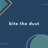 bite the dust の意味は?【ジョジョ / Queen】
