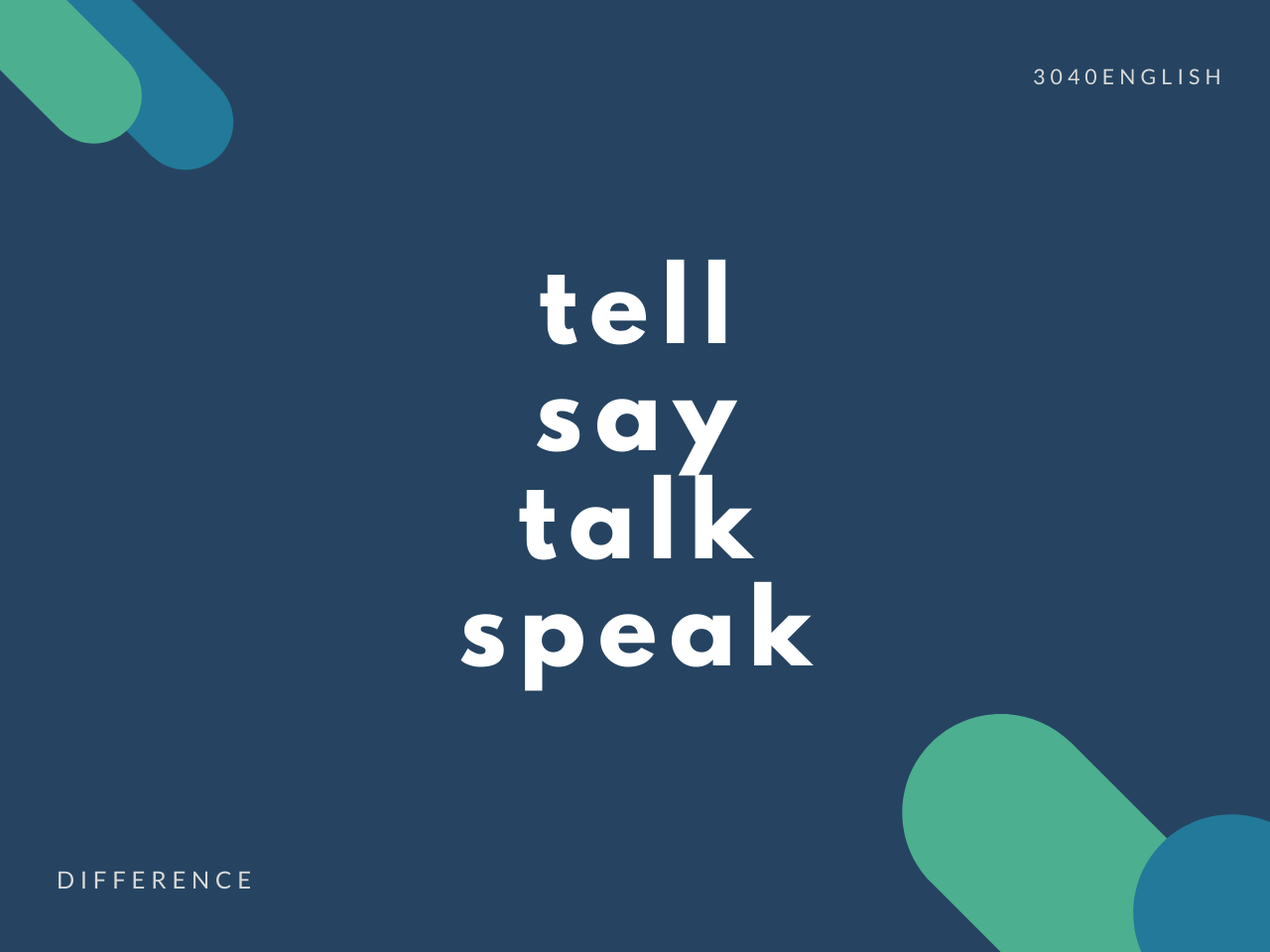 【言う?話す?】speak, talk, tell, say の違いとは?【例文あり】