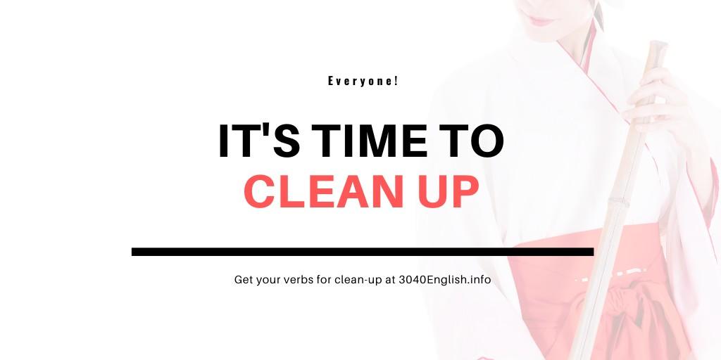 掃除の英語表現27選(動詞)【英単語・英会話用例文あり】