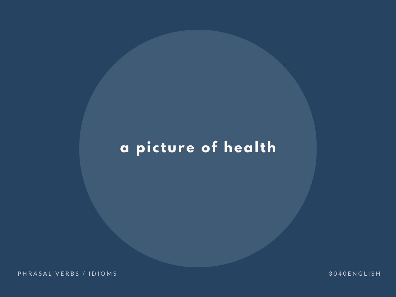 a picture of health の意味と簡単な使い方【音読用例文あり】