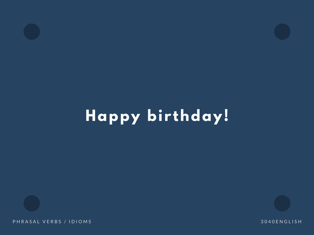 誕生 日 英語 表記