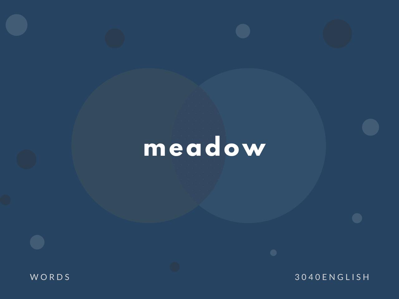meadow の意味と簡単な使い方【音読用例文あり】