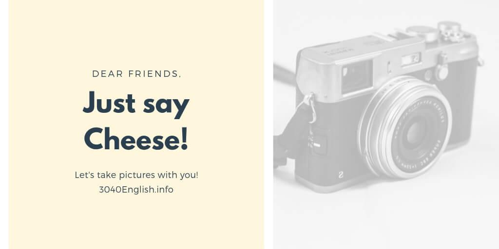 写真を撮るときに使う英語表現24選【英会話用例文あり】