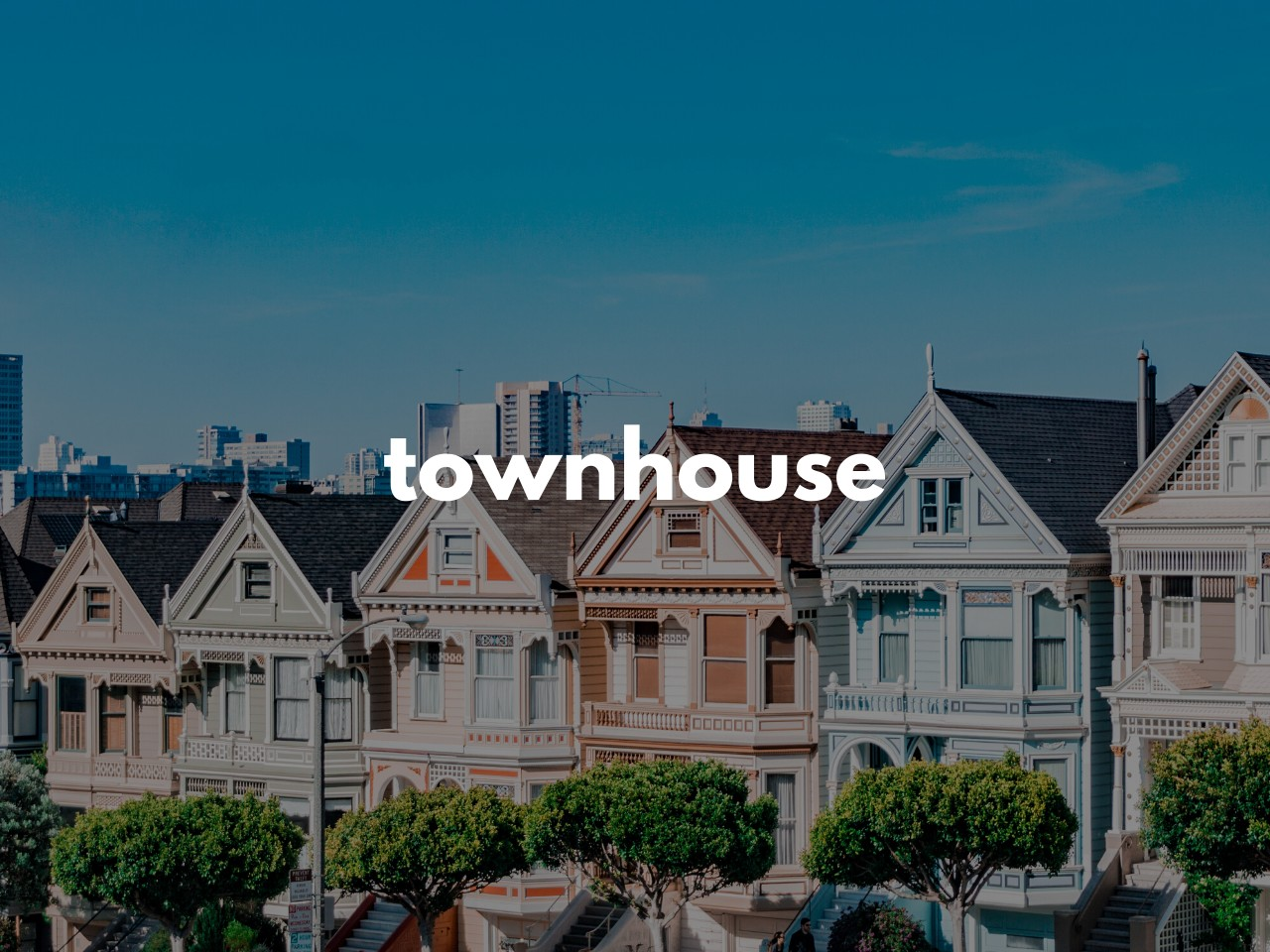 townhouse : 住宅地の家