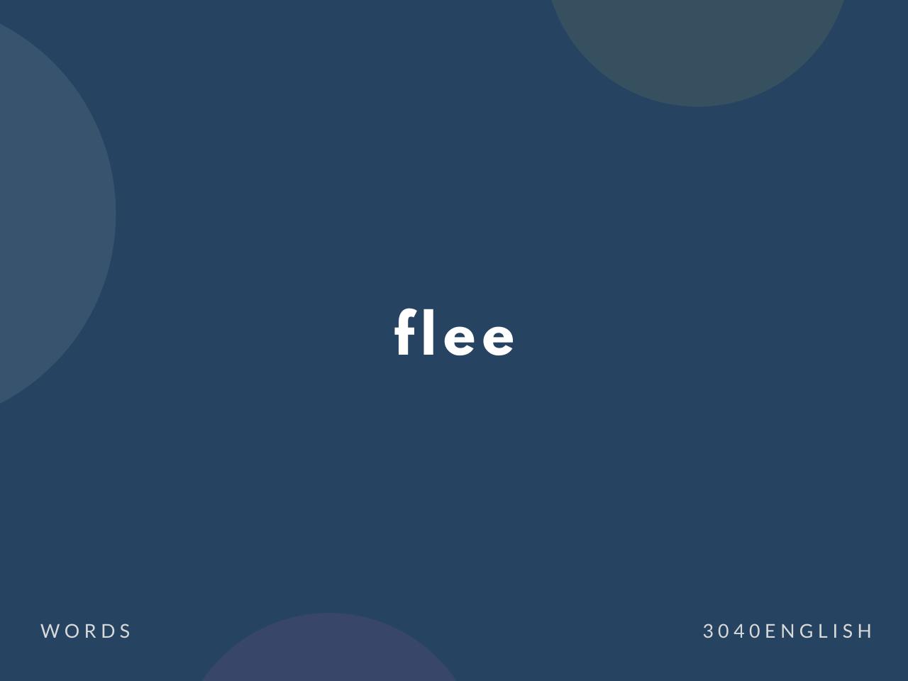 flee の意味と簡単な使い方【音読用例文あり】