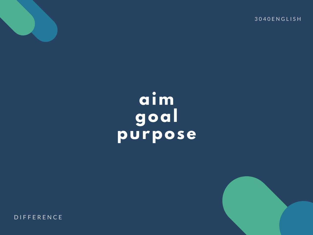 purpose, goal, aim の違い】「目的」「目標」の英語表現5選【例文あり ...
