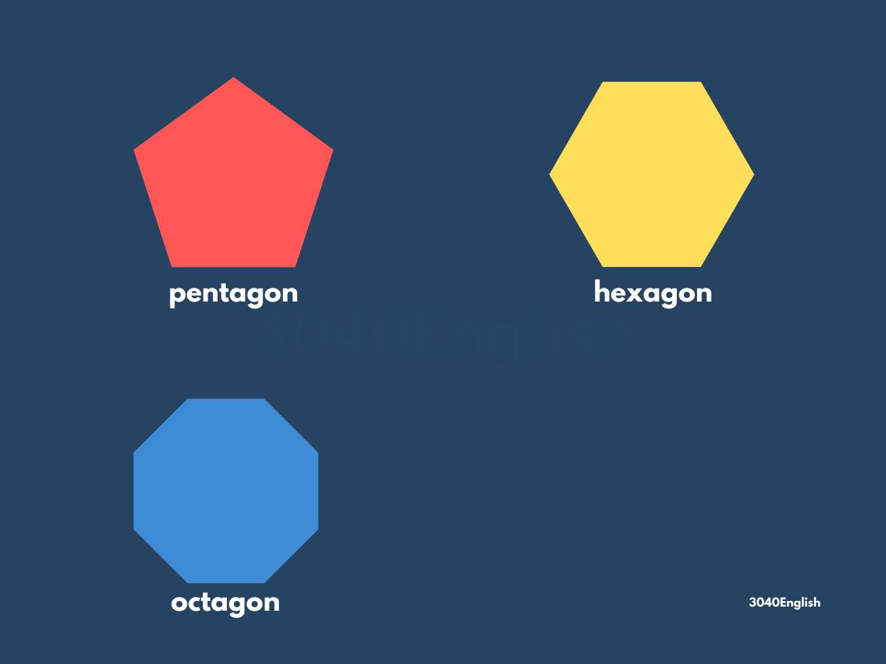五角形・六角形・八角形の英語表現