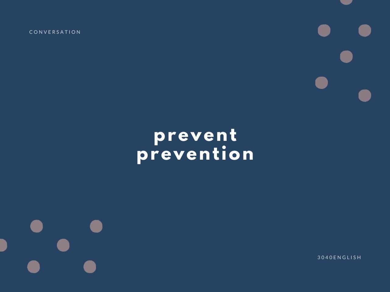 「予防する」の英語表現6選【英会話用例文あり】